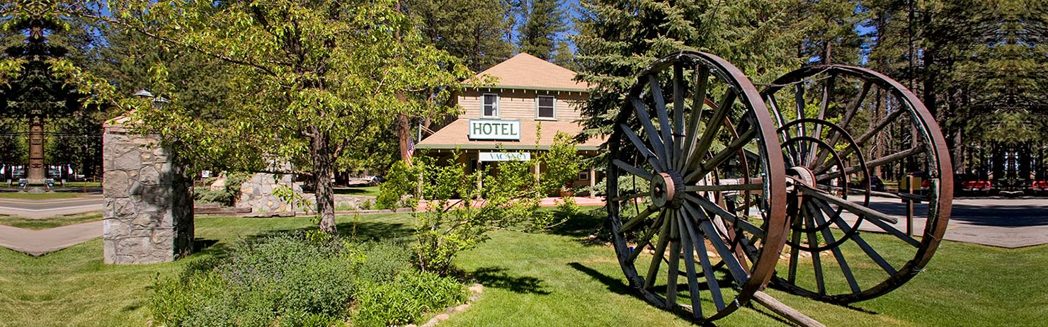 The historic Camp Richardson Hotel in South Lake Tahoe.