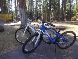 rent bikes at mountain sports in Lake Tahoe in spring