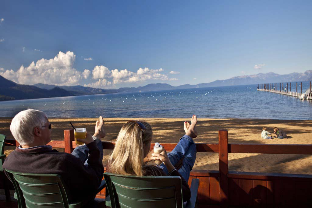 relaxing in lake tahoe
