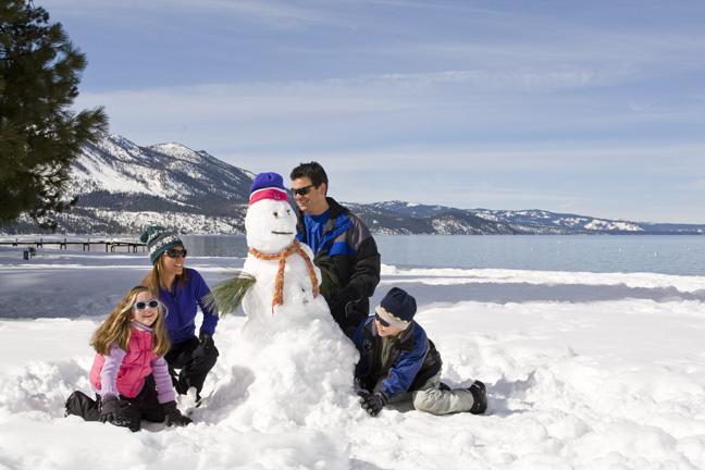 building snowmen in tahoe