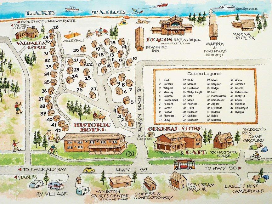 Camp Richardson Resort Map