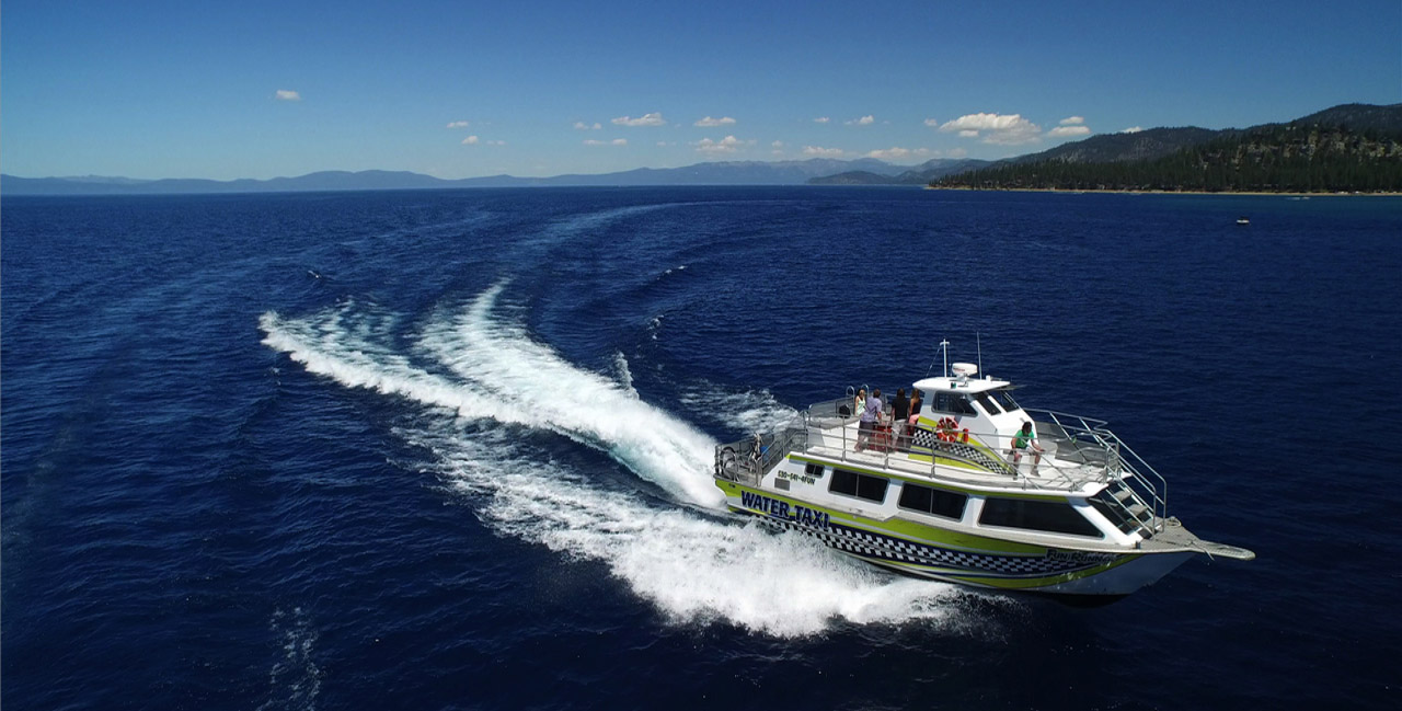 The Water Taxi transporting visitors from Camp Richardson and other Marinas on Lake Tahoe.