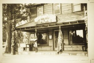 Historic photo of the Souvenir Shop at Camp Richardson
