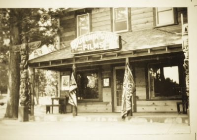 historic photograph of camp richardson general store