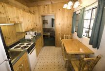 el dorado lake tahoe cabin kitchen and dining area