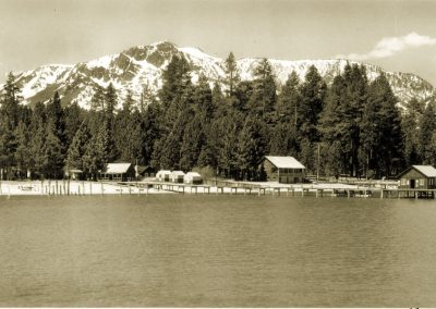 historic photo of frasher shore camp richardson