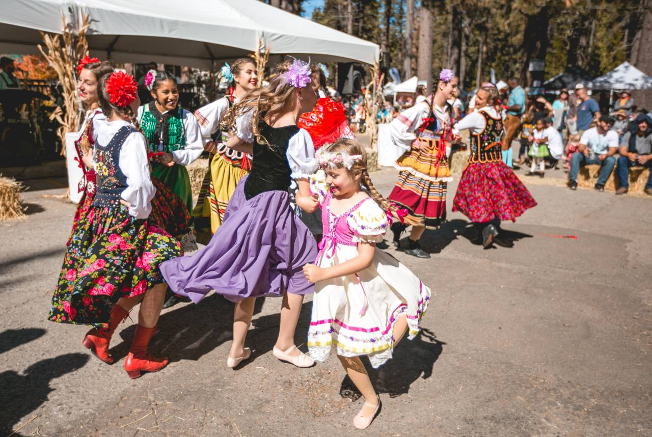 dancing at lake tahoe oktoberfest at camp richardson