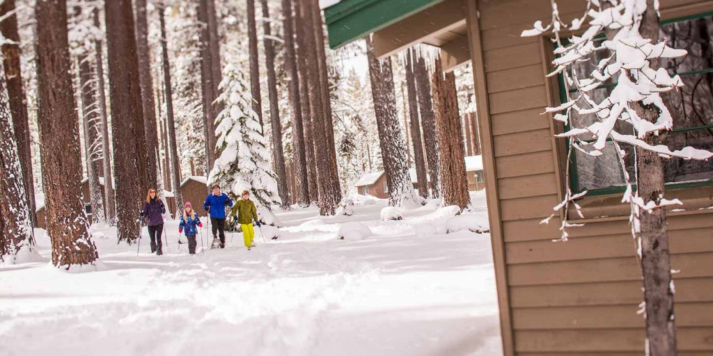 Cross-country skiing at Camp Richardson