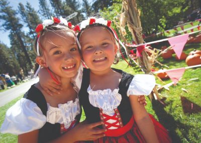 little girls at oktoberfest