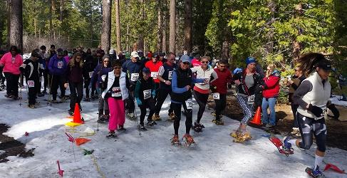 "Lake Tahoe ""Fresh Tracks"" 5K Snowshoe Walk and Race raising funds for breast cancer research"